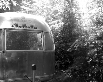 Airstream, 11x14 framed and matted giclee print of digital photograph