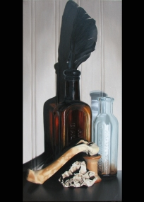 Leftovers, 2010, 12x24 inches, oil on canvas--$1000