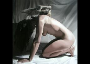 "Transformative Sigilation, 2011, oil on canvas, 36"" x 36""-- $1400"